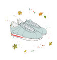 comfortable casual sneakers shoes on the vector image vector image
