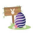 cute easter egg cartoon vector image