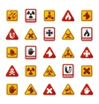 Danger warning attention sign icons vector image