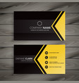 dark business card with geometric shape vector image vector image
