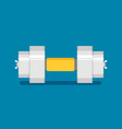 dumbbell flat icon with shadow vector image vector image
