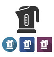 electric kettle icon in different variants with vector image vector image