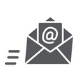 email glyph icon mail and letter mail envelope vector image vector image