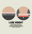 Flat Design Lose Weight Healthy Concept vector image