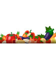 fresh vegetables collection on white background vector image