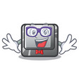 geek button i in character shape vector image