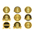 gold promotion badges vector image vector image