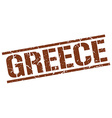 Greece brown square stamp vector image vector image