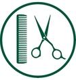 green hairdresser sign vector image