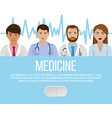 group doctors and nurses and medical staff for vector image vector image