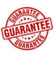 guarantee red grunge round vintage rubber stamp vector image vector image