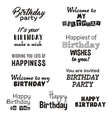 Happy birthday typography text isolated on white vector image vector image