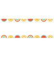 hello summer banner design with watermelon sun vector image vector image