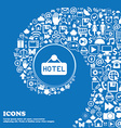 hotel icon sign Nice set of beautiful icons vector image