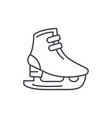 ice skates line icon concept ice skates vector image