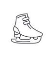 ice skates line icon concept ice skates vector image vector image