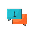 information chat bubble isolated thin line icon vector image