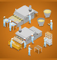interior of baking production isometric vector image vector image