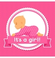 it is a girl bashower invitation vector image
