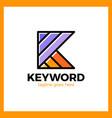 keyword logo letter k vector image