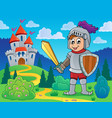 knight theme image 1 vector image vector image