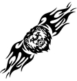 Lion and symmetric tribals vector image vector image