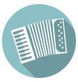 long shadow flat icon of accordeon vector image
