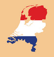 netherlands map with netherlands inside vector image vector image