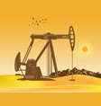 oil pumps on the desert vector image vector image