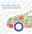 Poster of the Car Gears vector image