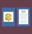 premium quality posters set vector image vector image