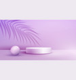 product display podium decorated with overlay palm vector image vector image