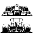 Racing car front and back view vector image vector image