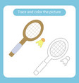 racket and shuttlecock toy with simple shapes vector image vector image