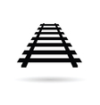 rails black vector image