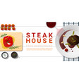 raw fresh meat and grilled meat tenderloin steak vector image vector image