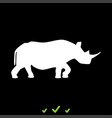 rhinoceros it is white icon vector image vector image