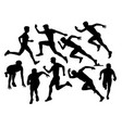 running sport silhouettes vector image vector image