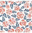 seamless pattern abstract roses red blue vector image vector image