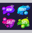 set of abstract trendy dynamic style compositions vector image vector image