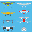 set of aerial drones vector image