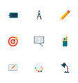set of creative icons flat style symbols with vector image vector image