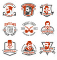set of gentlemens private club labels poker and vector image vector image