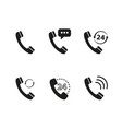 set of handset of icons vector image vector image