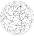 sphere with triangles vector image