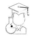 student graduated with tube test vector image vector image