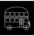 Symbol double-Decker bus black background vector image