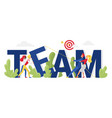 team word concept cartoon businessman partners vector image