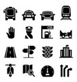 traffic icon vector image
