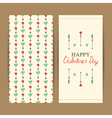 valentine greeting set vector image vector image